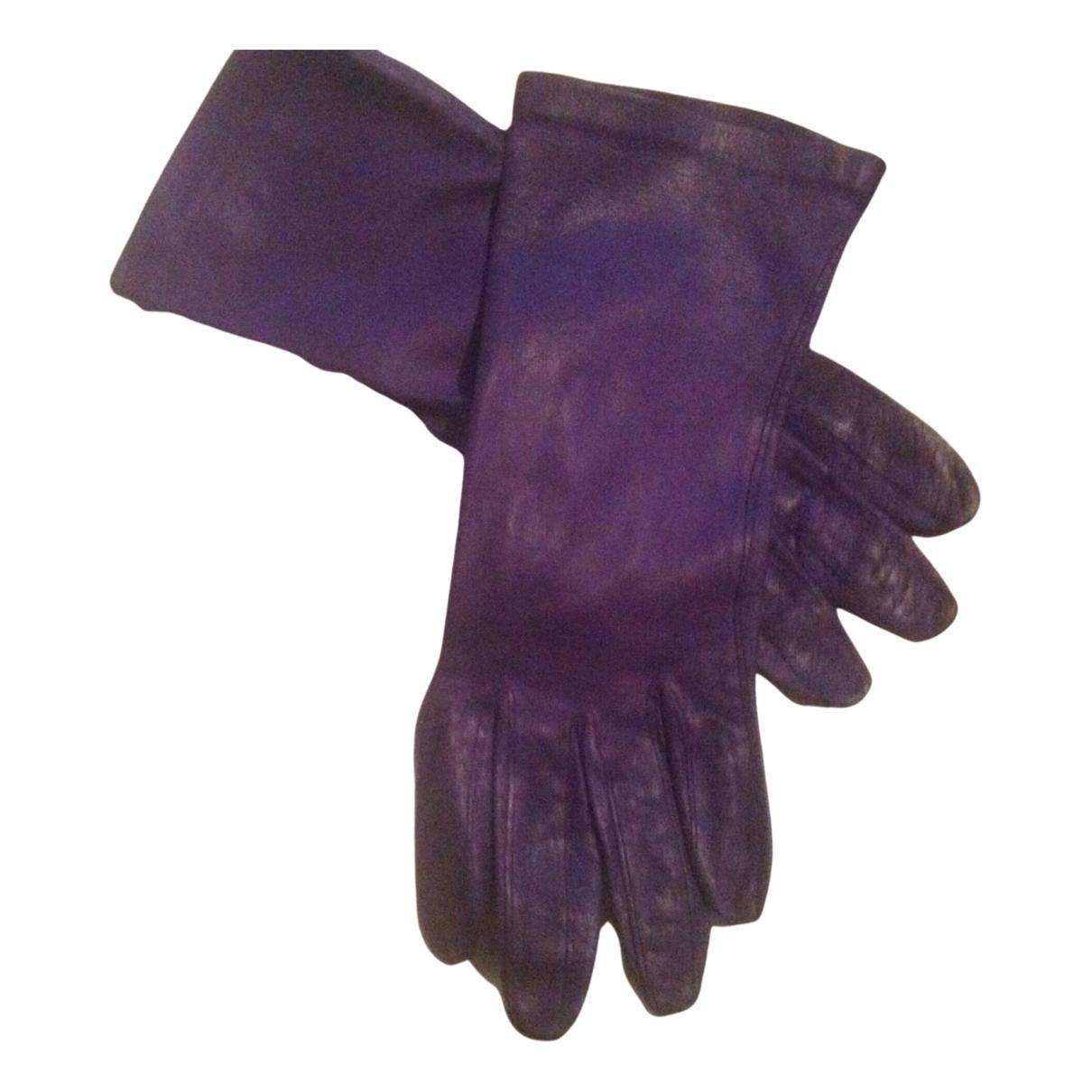 Non Signe / Unsigned \N Handschuhe in  Blau Leder