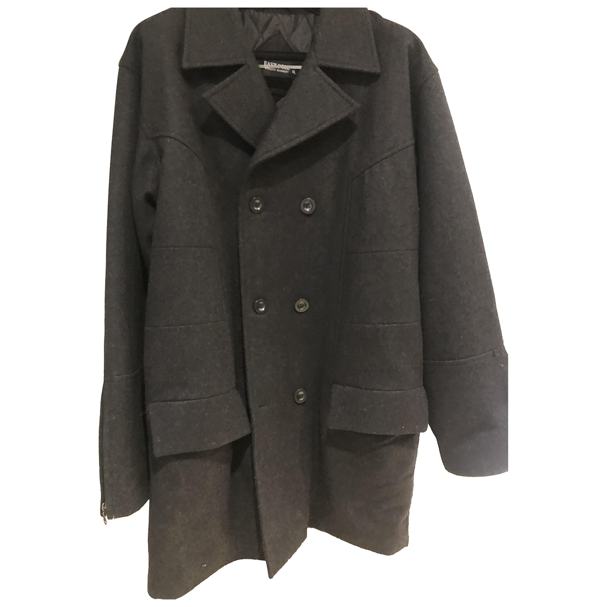 Non Signé / Unsigned \N Grey Wool coat  for Men XL International