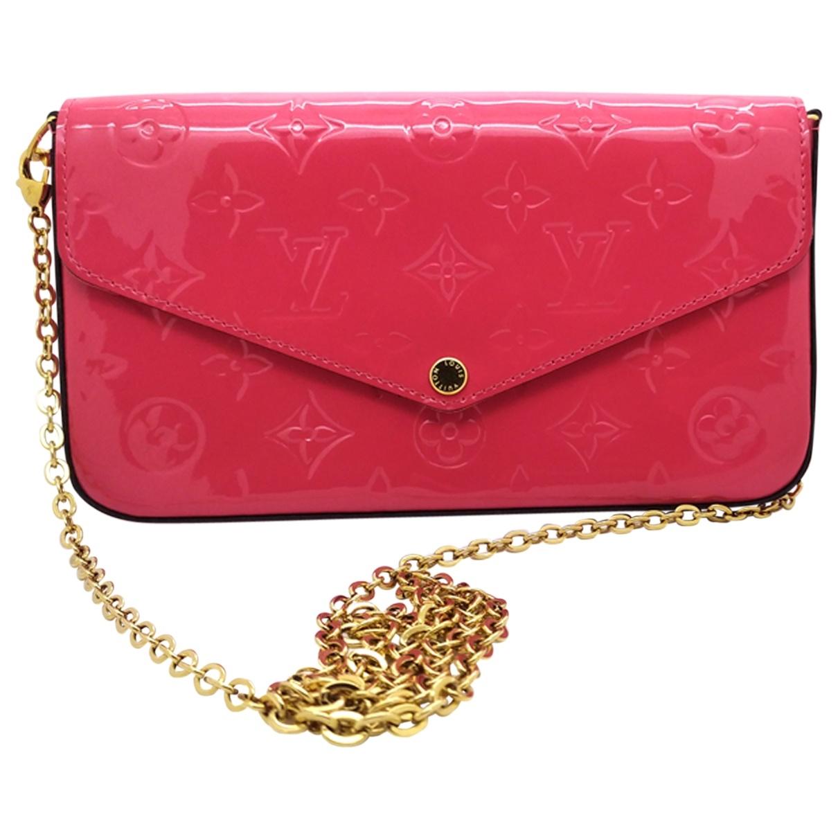Louis Vuitton - Pochette Felicie pour femme en cuir verni - rose