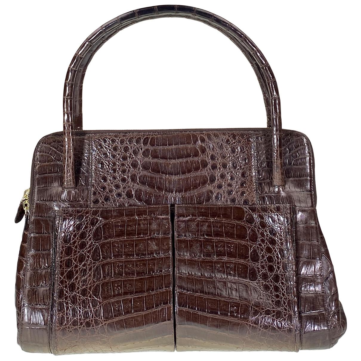 Nancy Gonzalez \N Handtasche in  Braun Krokodil