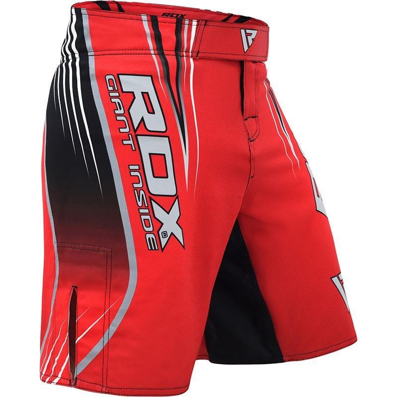 RDX R12 Pantalones Cortos de MMA Poliester Rojo Grande