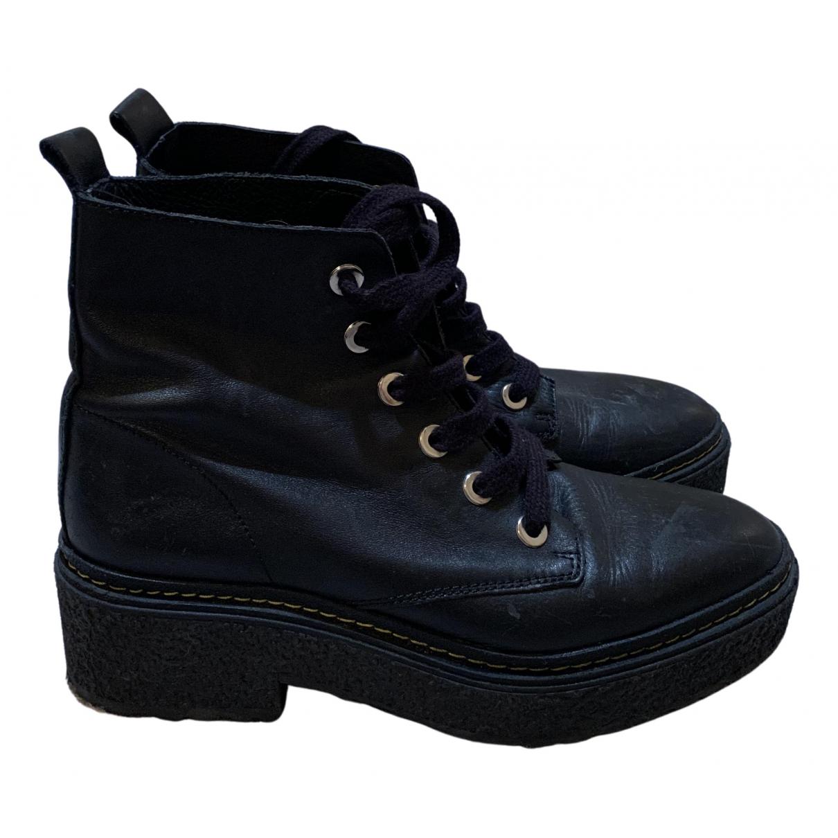 Bimba Y Lola - Boots   pour femme en cuir - noir