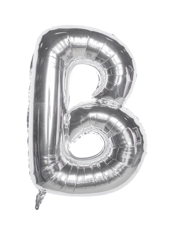 Folienballon Buchstabe B silber