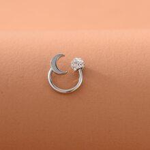 1pc Dual-purpose Rhinestone Detail Nose Ring
