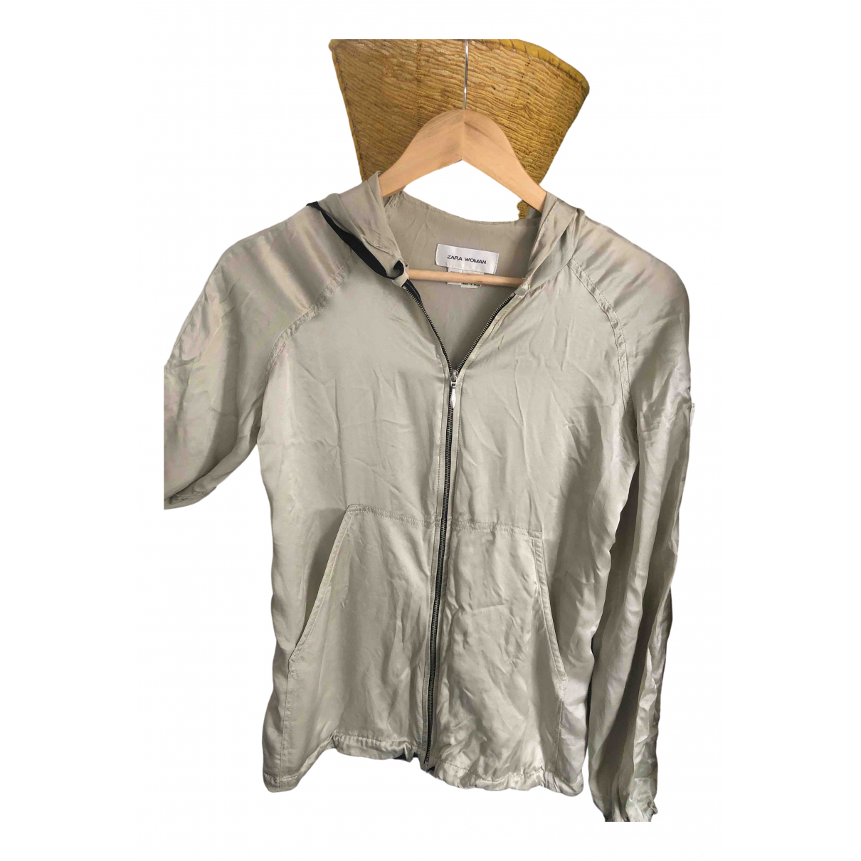 Zara \N Khaki Silk Knitwear for Women 38 FR