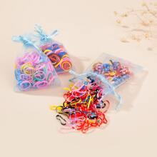 600 piezas goma de pelo de niñitas