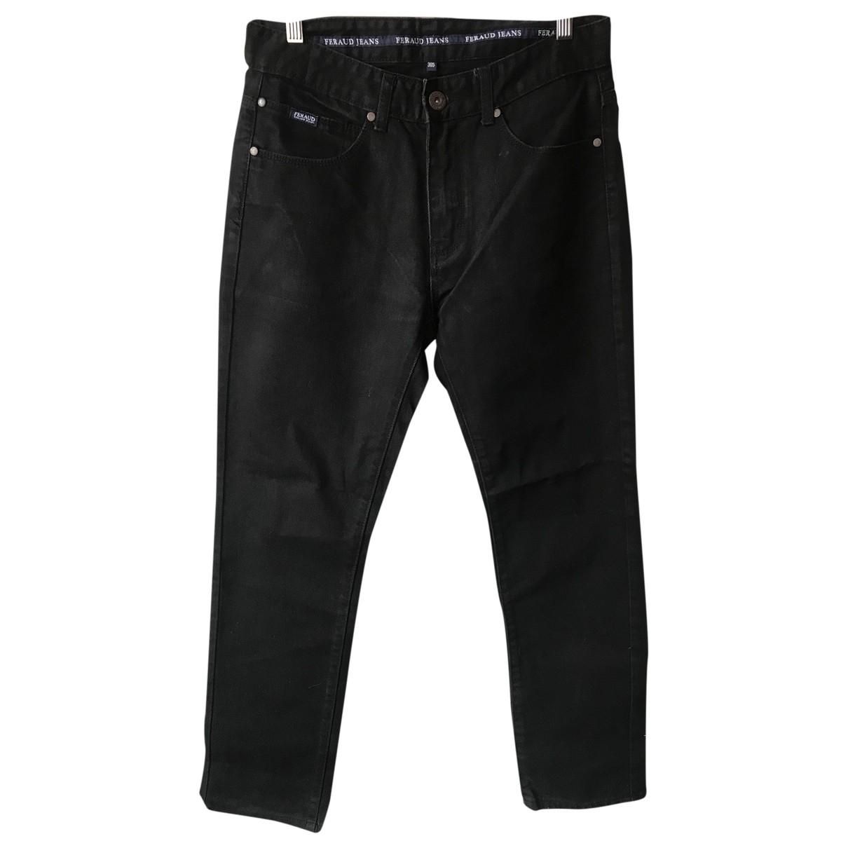 Louis Feraud \N Black Cotton Jeans for Men 30 US