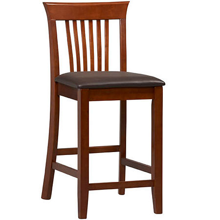 Wright Upholstered Barstool with Mission Back, One Size , No Color Family