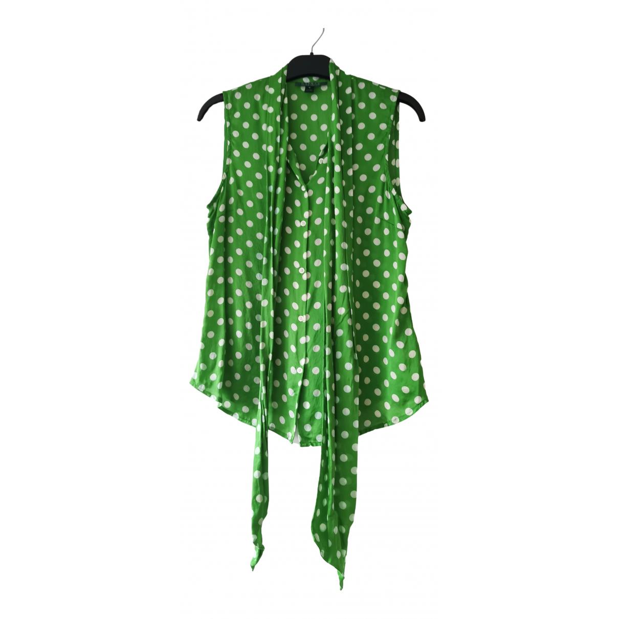 Lauren Ralph Lauren - Top   pour femme en soie - vert