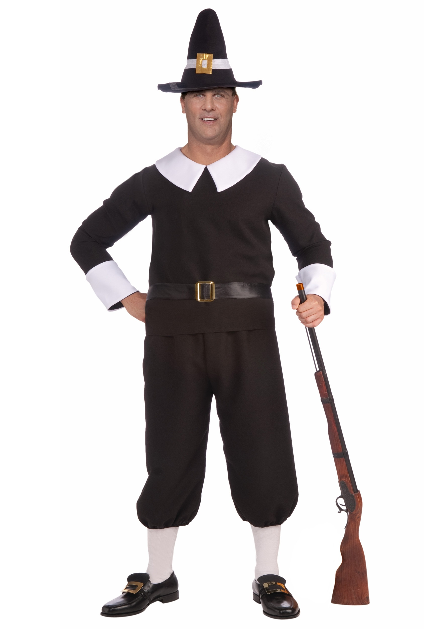 Adult Plus Size Pilgrim Man Costume