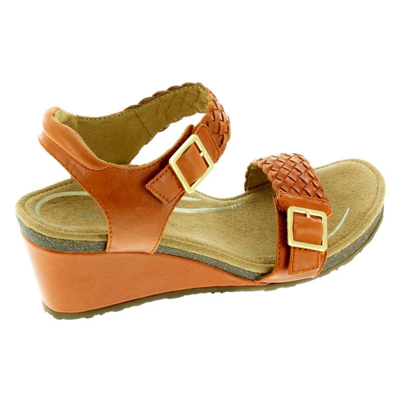 Aetrex Grace Tangerine Leather High Heel 41