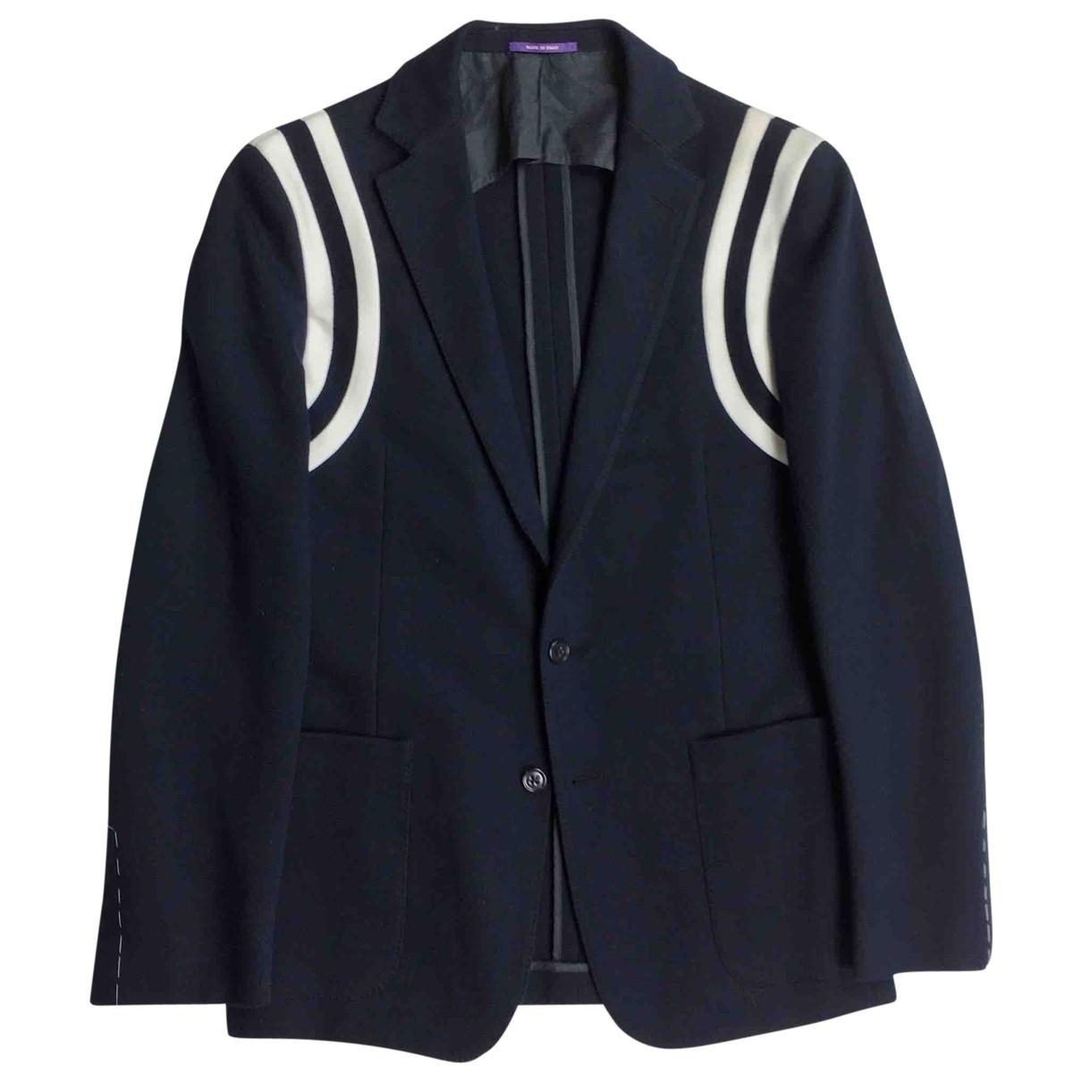 Ralph Lauren Purple Label - Vestes.Blousons   pour homme en coton - marine
