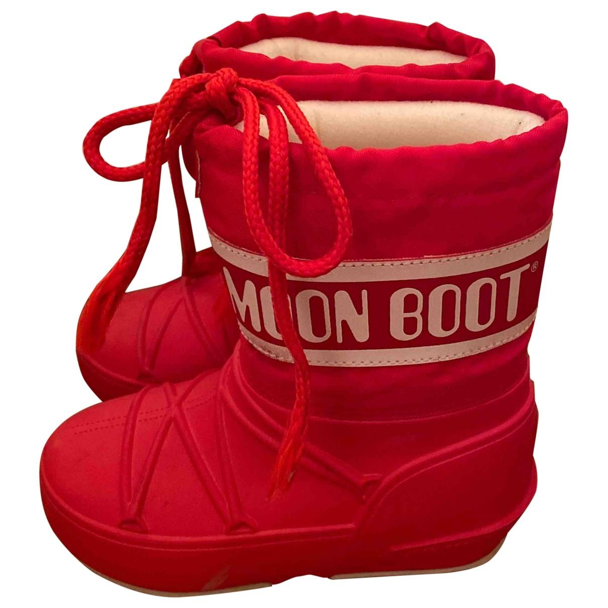 Moon Boot - Bottes.Bottines   pour enfant en caoutchouc - orange