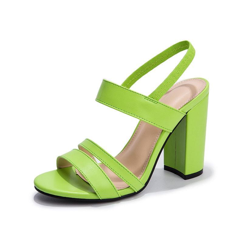 Ericdress Open Toe Chunky Heel Slip-On Casual Sandals