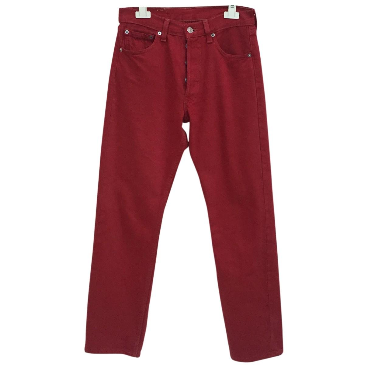 Levis Vintage Clothing - Jean   pour femme en denim - rouge