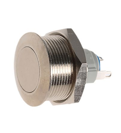 APEM Latching Push Button Switch, IP65, IP67, 19.2 (Dia.)mm, Panel Mount, 48V dc