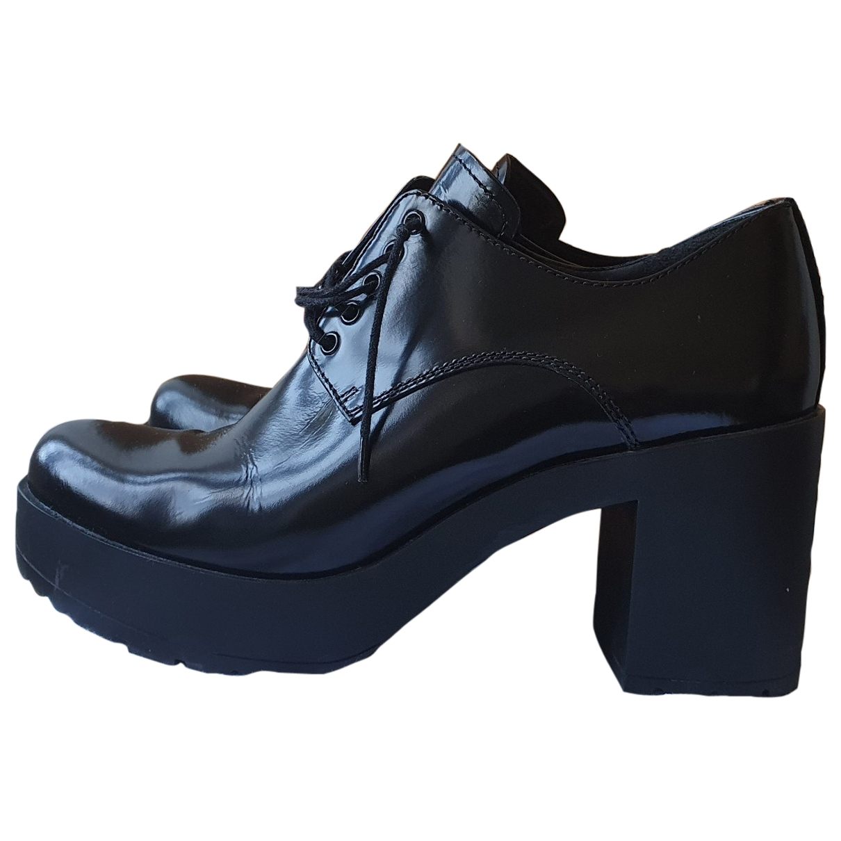 Prada Monolith  Black Leather Lace ups for Women 38 EU