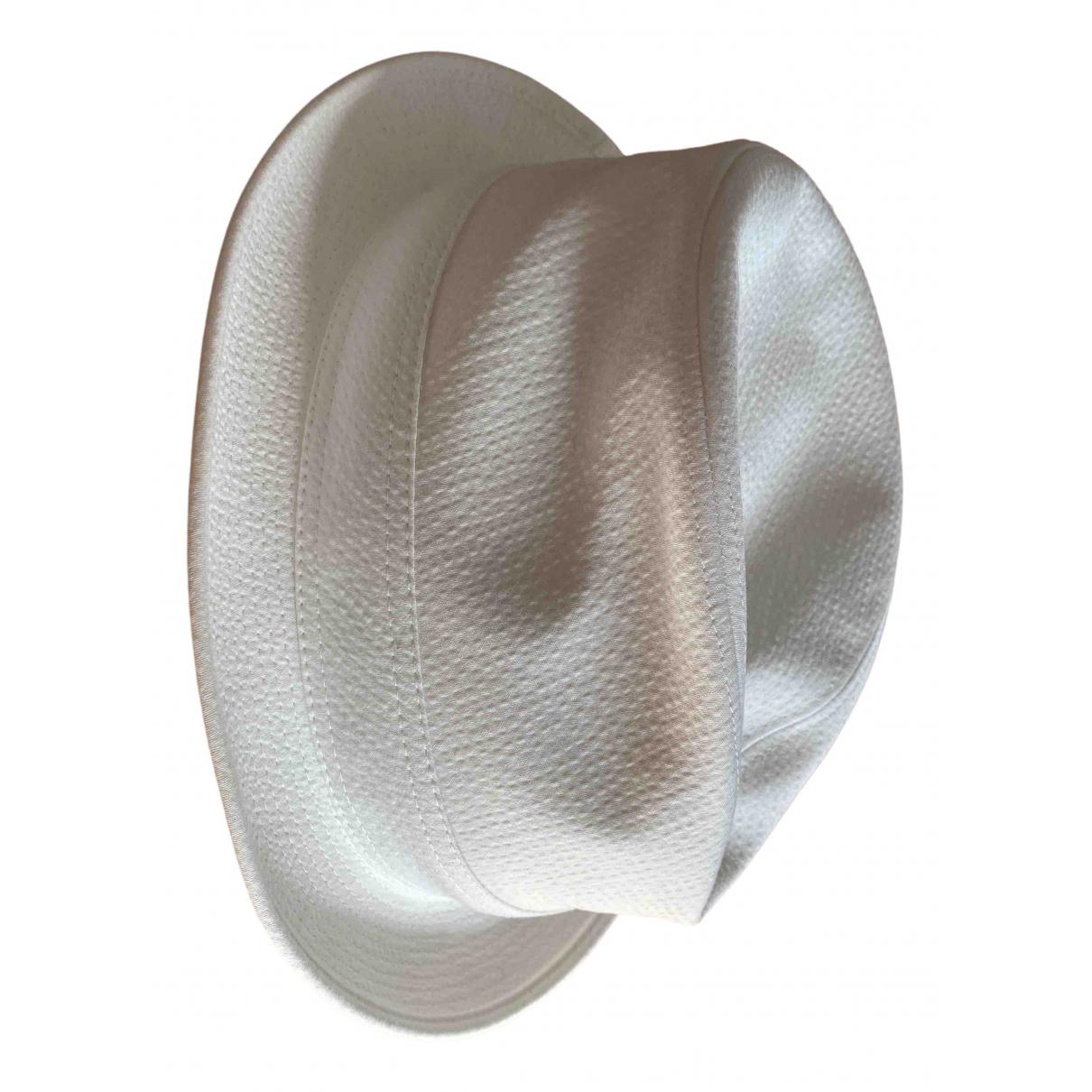 Hermes - Chapeau & Bonnets   pour homme en coton - blanc