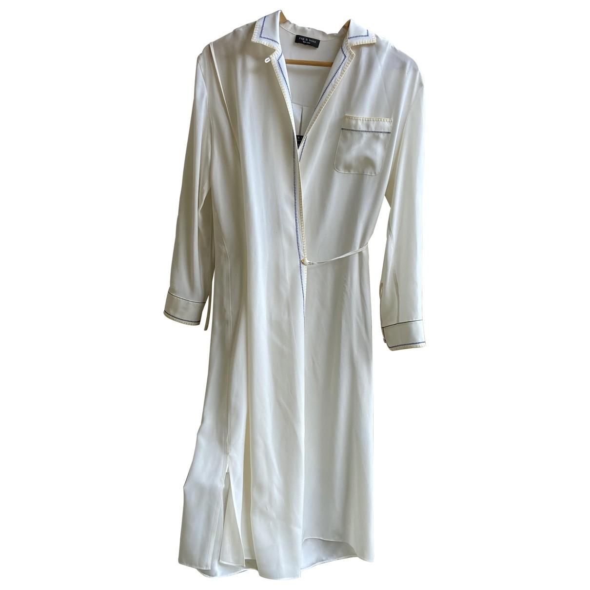 Rag & Bone N Ecru Silk dress for Women M International