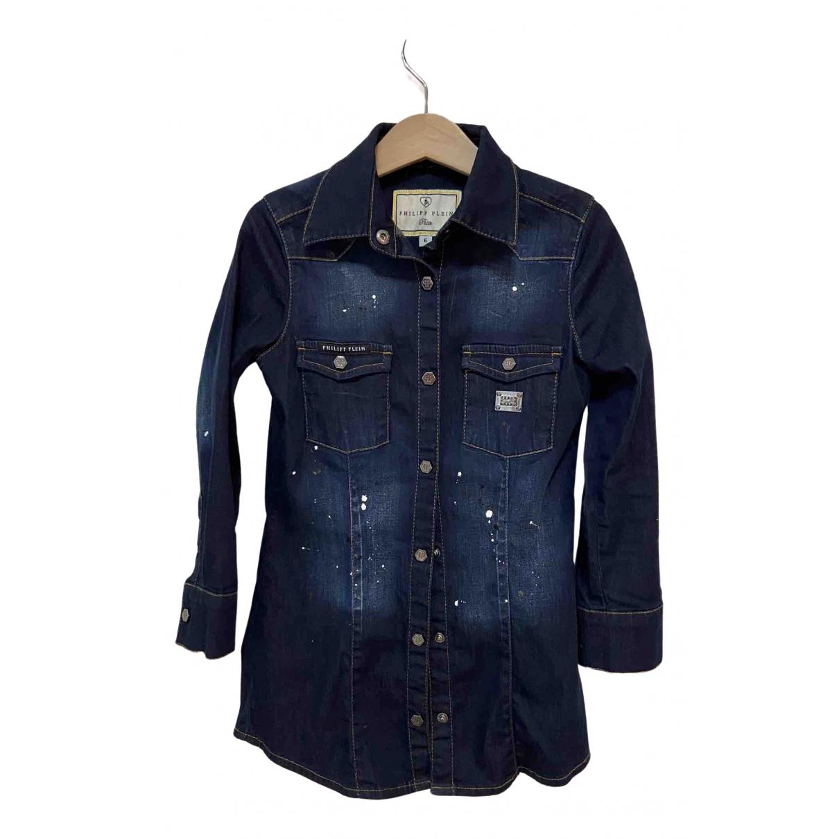 Philipp Plein \N Kleid in  Blau Baumwolle