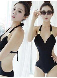 Halter Hollow Out Swimwear Women One-Piece Monokini