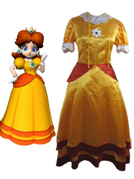 Milanoo Halloween Traje de Princesa Daisy para cosplay de Super Mario Bros