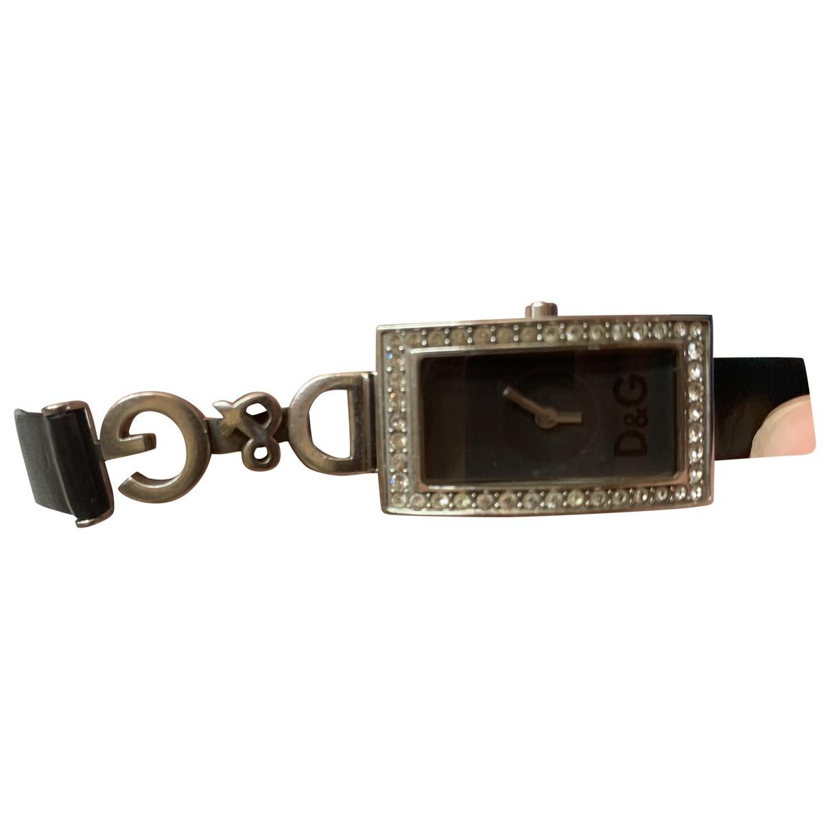 D&g \N Black Steel watch for Women \N
