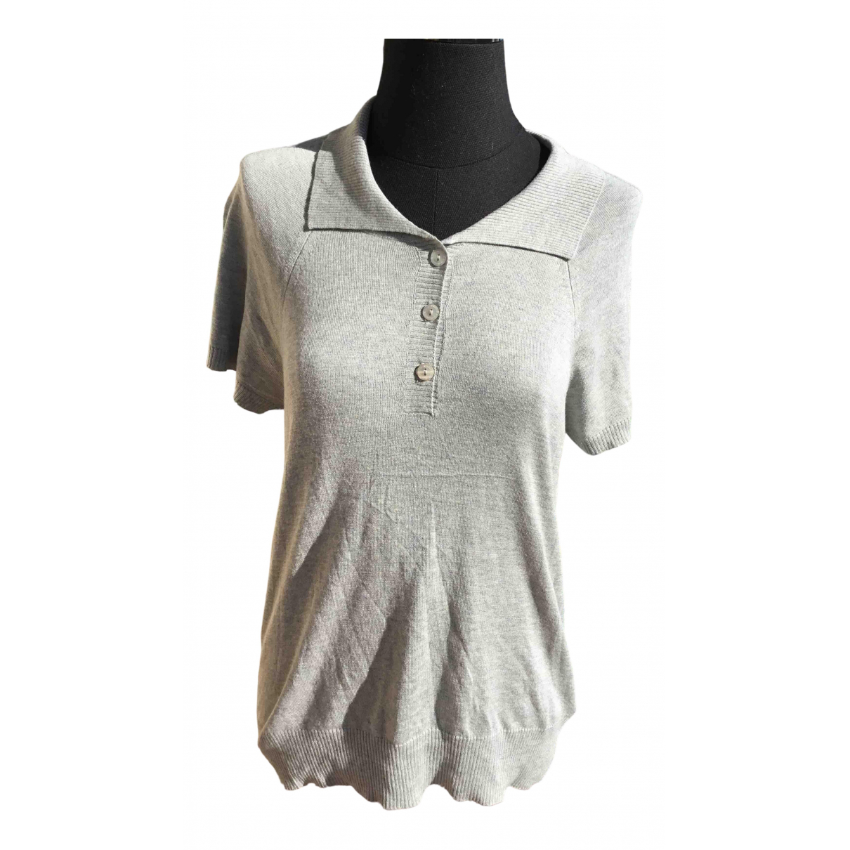 Sport Max - Pull   pour femme en soie - gris