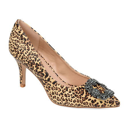 Journee Collection Womens Izzie Pumps Stiletto Heel, 7 1/2 Medium, Brown