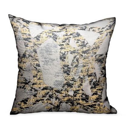 Craven Dust Collection PBRA2338-1616-DP Double sided  16 x 16 Plutus Craven Dust Gold  Gray Abstract Luxury Throw