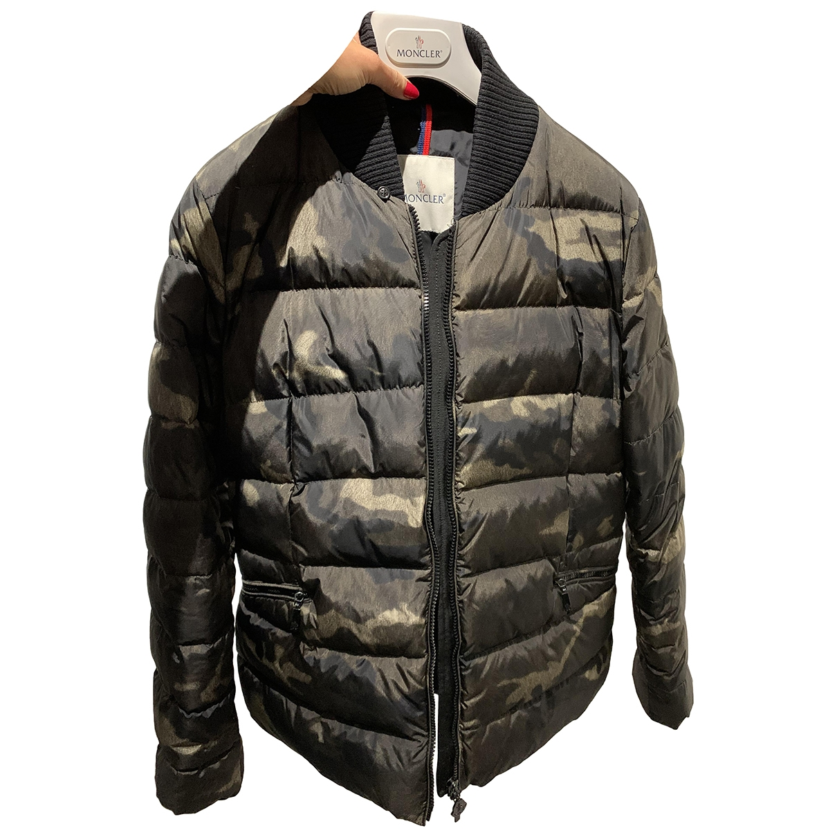 Moncler \N Khaki Leather jacket for Women 4 0-5