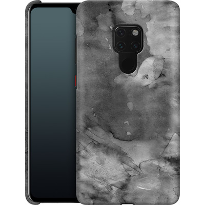 Huawei Mate 20 Smartphone Huelle - Black Watercolor von Emanuela Carratoni