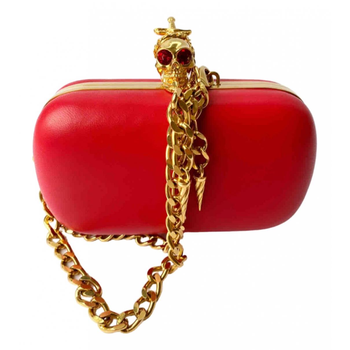 Alexander Mcqueen Skull Red Leather Clutch bag for Women \N