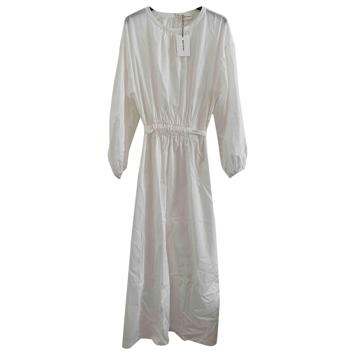 Matteau \N White Cotton dress for Women 2 0-5