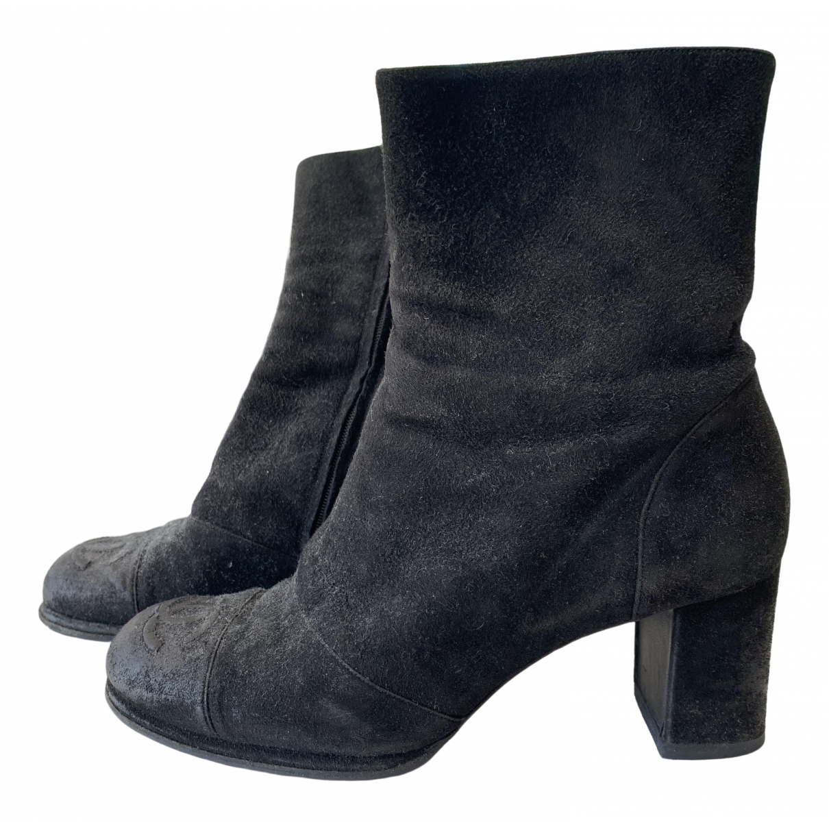 Chanel \N Black Suede Boots for Women 37 EU