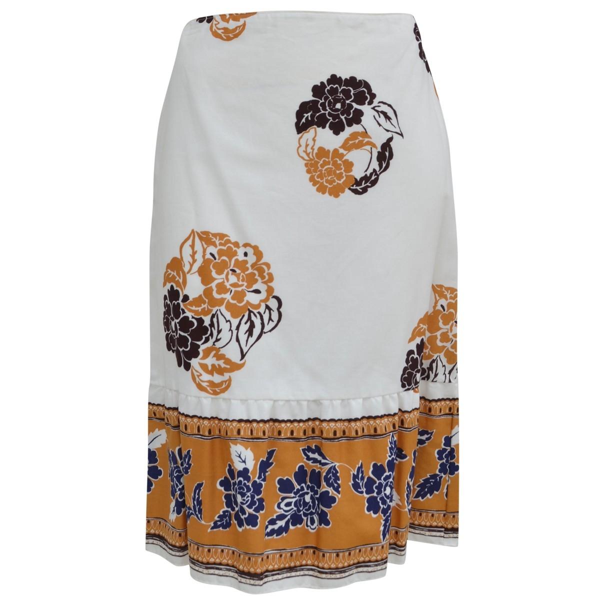 Miu Miu - Jupe   pour femme en coton - blanc