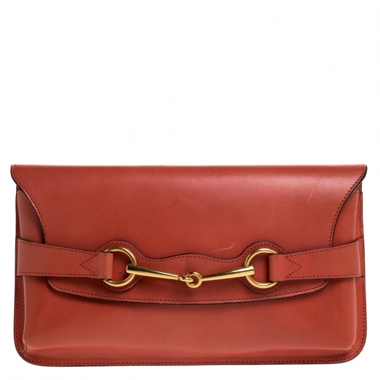 Gucci N Orange Leather Clutch bag for Women N