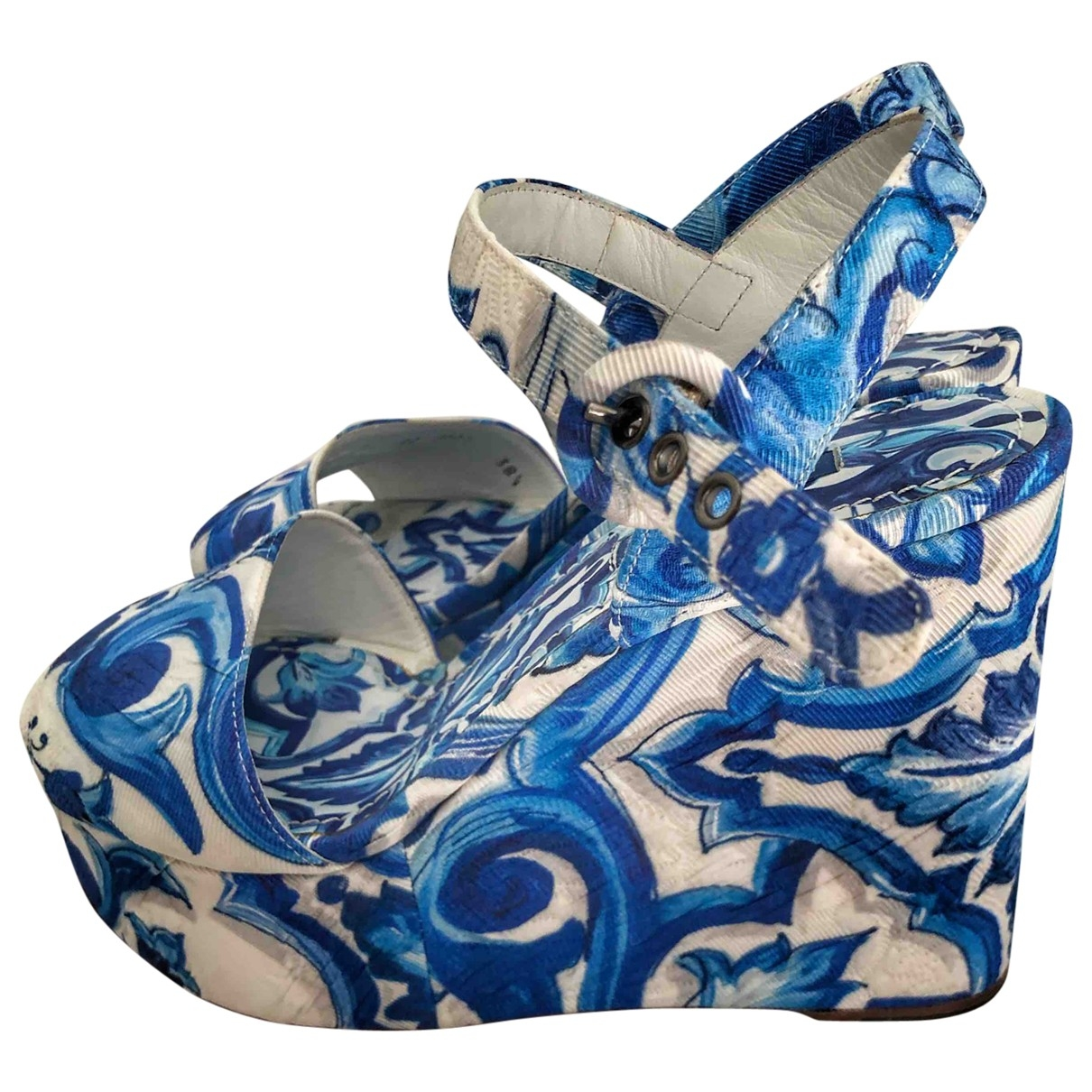 Dolce & Gabbana \N Sandalen in  Blau Leinen