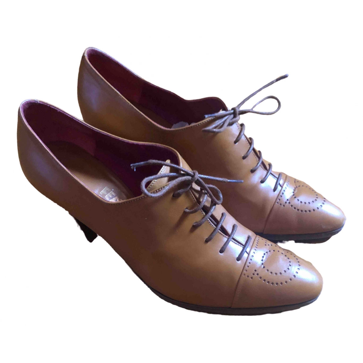 Salvatore Ferragamo \N Camel Leather Heels for Women 39 IT