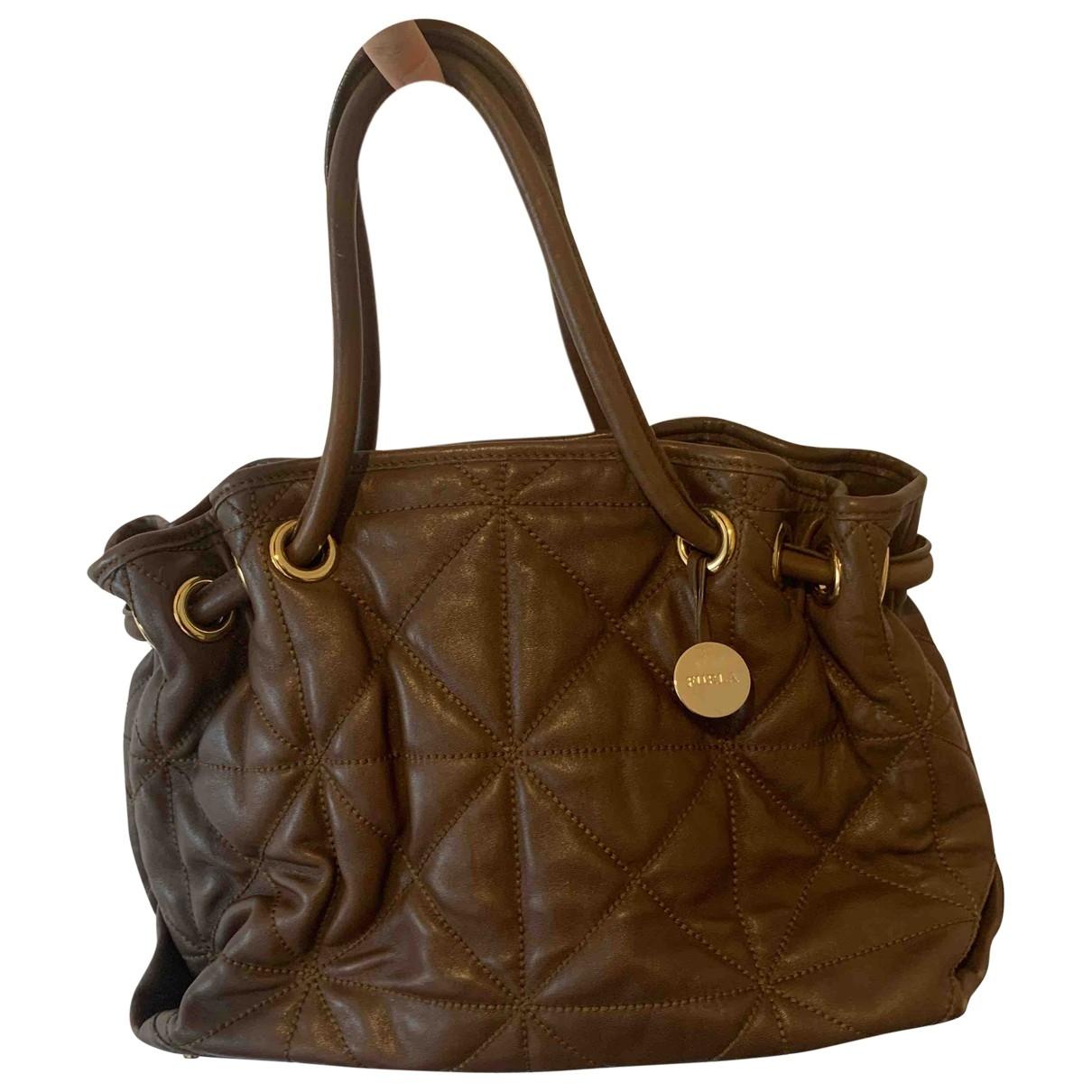 Furla - Sac a main   pour femme en cuir - marron