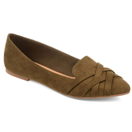 Journee Collection Womens Mindee Ballet Flats, 6 Medium, Green