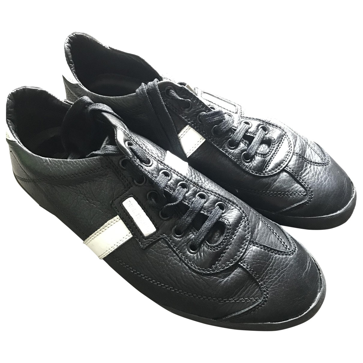 Dior Homme \N Black Leather Trainers for Men 40.5 IT