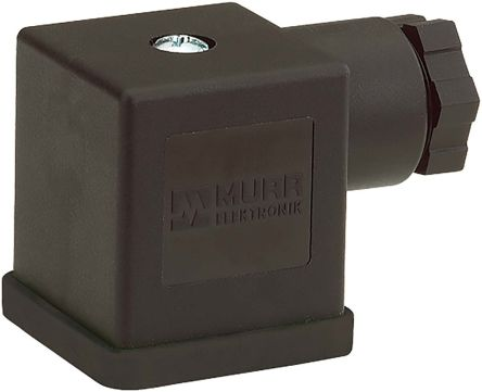 Murrelektronik Limited DIN 43650 Solenoid Connector, Black