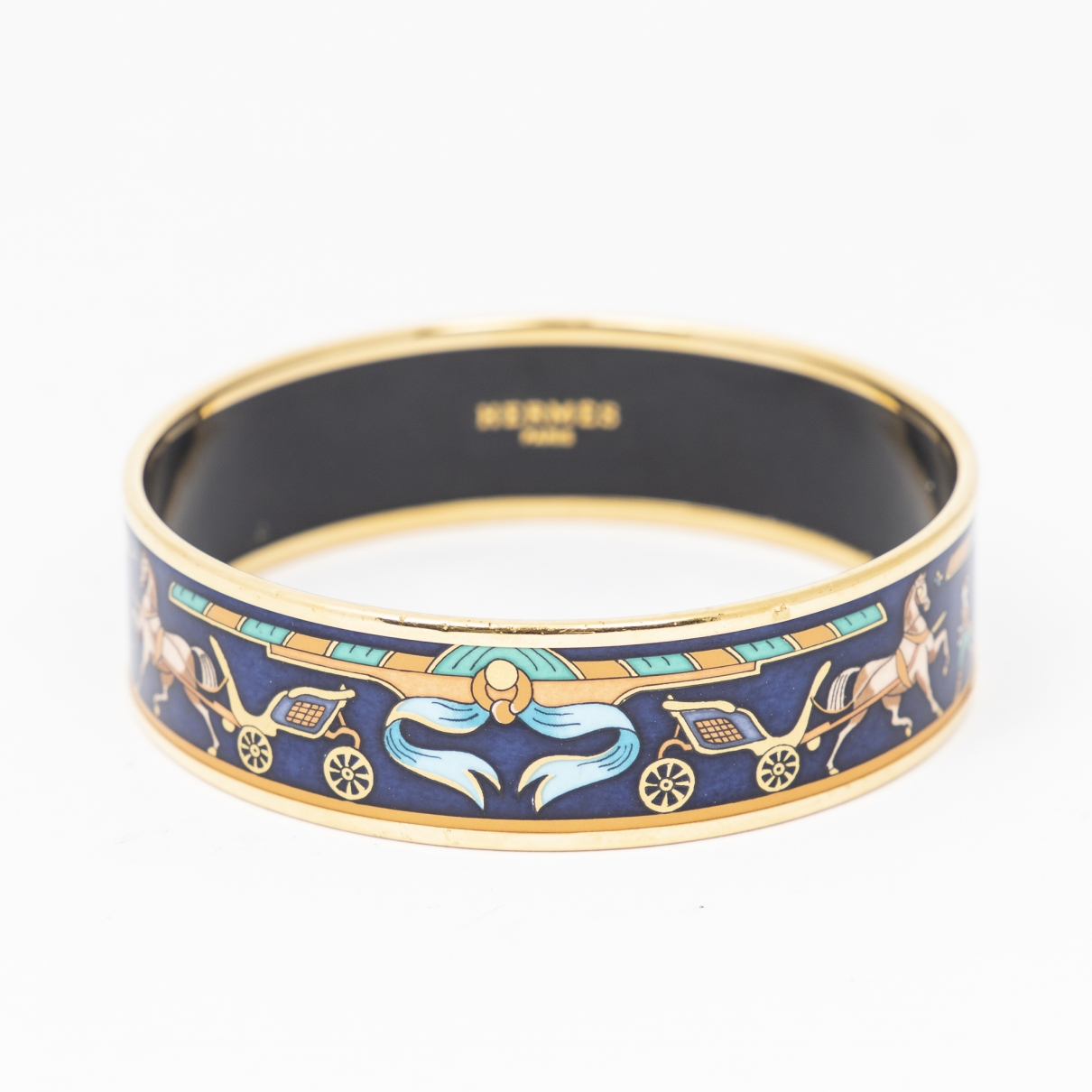 Hermès \N Blue Metal bracelet for Women \N