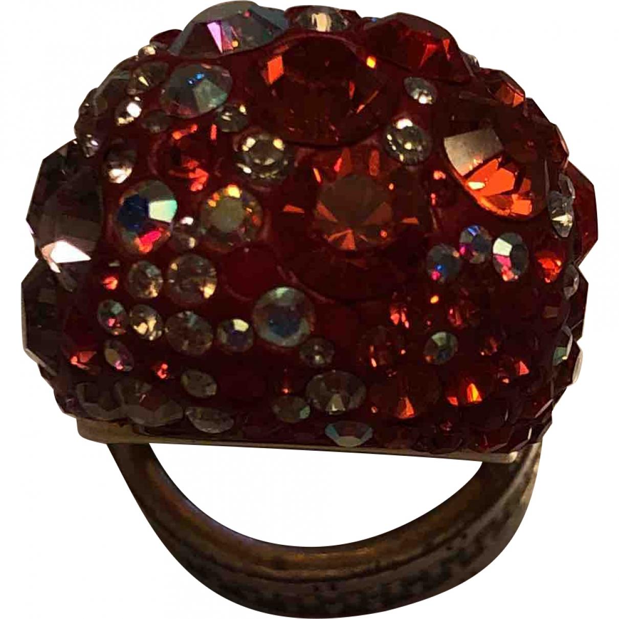 Swarovski \N Ring in  Rot Kristall