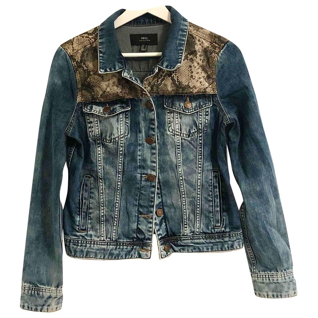 Mango \N Jacke in  Blau Denim - Jeans