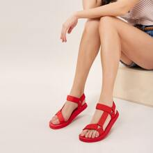 Two Velcro Strap Open Toe Foam Sandals