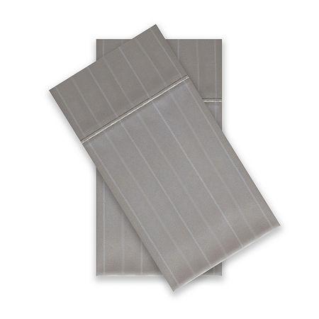 Liz Claiborne Luxury 600tc Sateen Wrinkle Free 2-Pack Pillowcases, One Size , Gray