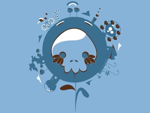 Skullflower T Shirt