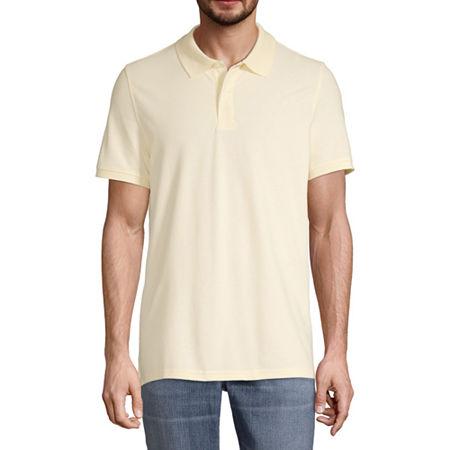 St. John's Bay Premium Stretch Mens Short Sleeve Polo Shirt, X-large , Yellow